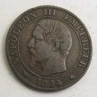 5 centimes, 1854